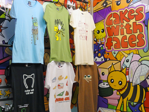 Cute t-shirts at LondonEdge 2012