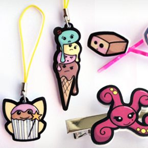 charms-hairclips