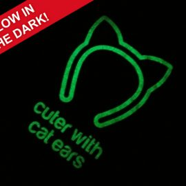Glow in the dark cat t-shirts