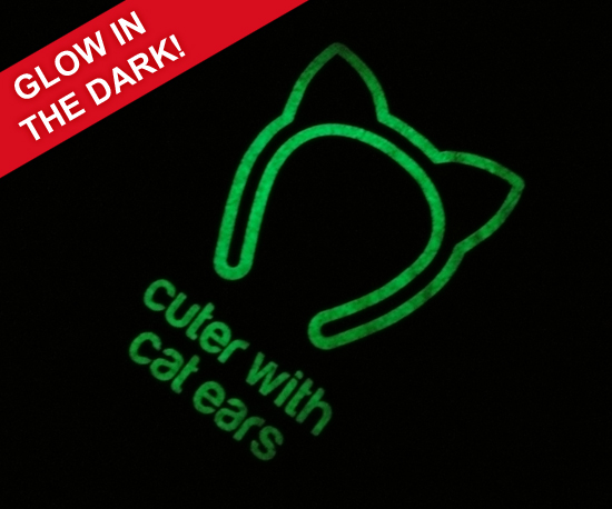 Glow in the dark cat t-shirts