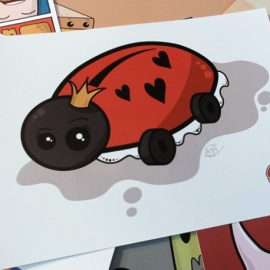 Cute Ladybird Print