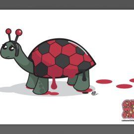 Cute Ladybird Tortoise Art Print