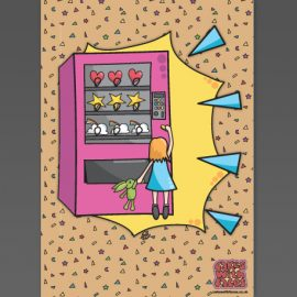 Vending Machine A3 Art Print