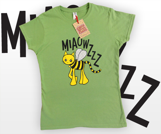 Bumblebee Cat T-Shirt by Cakes with Faces