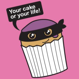 Your Cake or Your Life Ladies Vest Top by Cakes with Faces