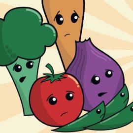 Funny vegetables artwork
