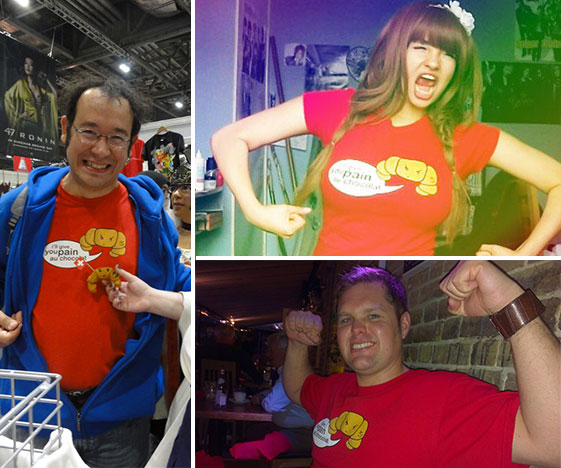 Croissant t-shirt - customer photos