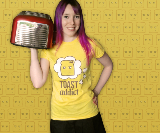 Toast Addict T-Shirt by Cakes with Faces