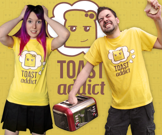 Bright Yellow Toast T-Shirts