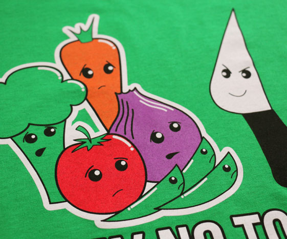 Vegetables t-shirt close-up