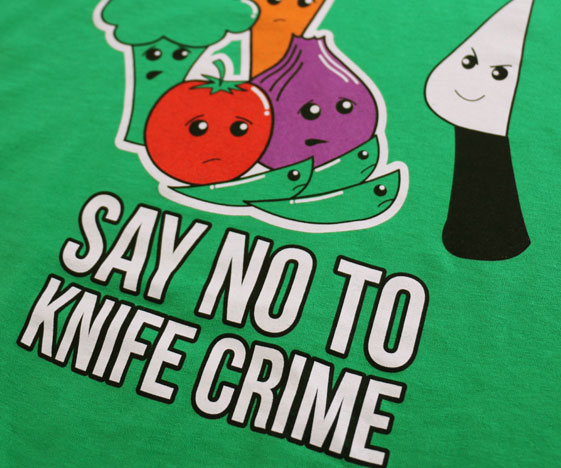Vegetarian t-shirt close-up