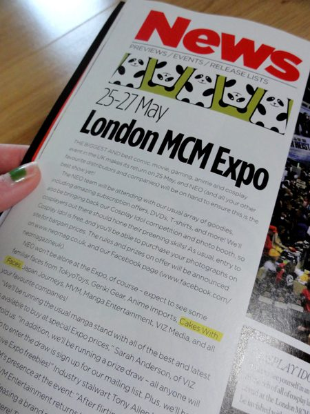 NEO Magazine feature about MCM Expo