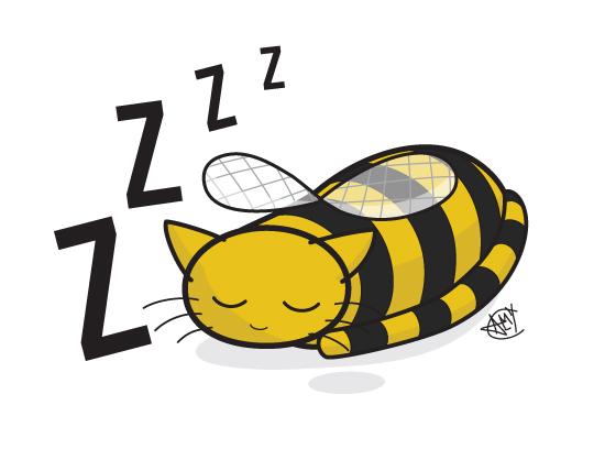 Bumblebee Cat Naptime