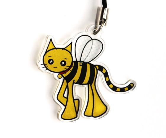 Bumblebee cat charm