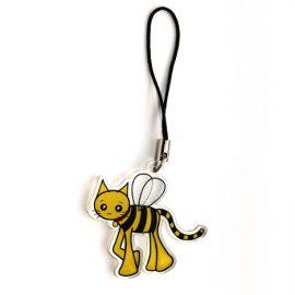 Bee cat charm