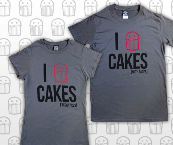 I Love Cakes Charcoal T-Shirt