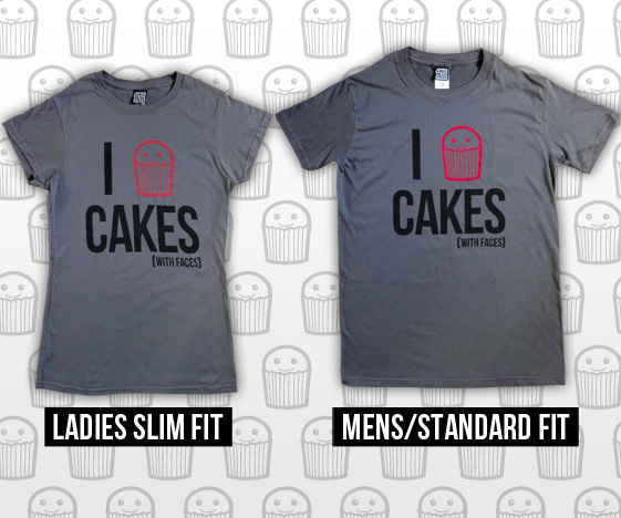 Mens and Ladies Cupcake T-Shirts