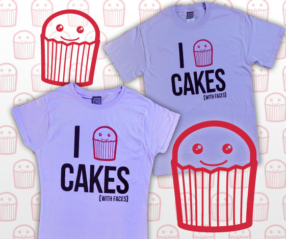 Lilac I Love Cakes T-Shirt