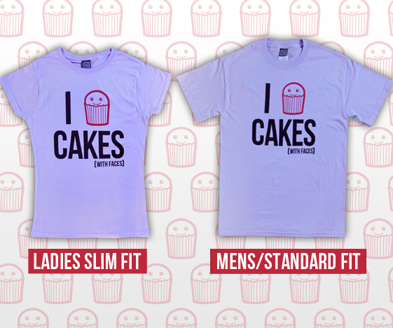 I Heart Cakes Mens and Womens T-Shirts