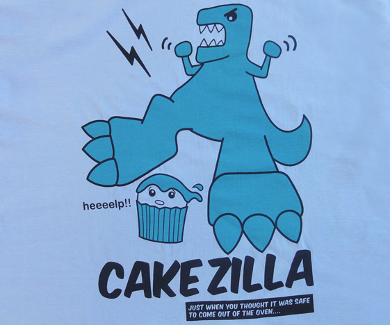 Cakezilla Funny Godzilla T-Shirt
