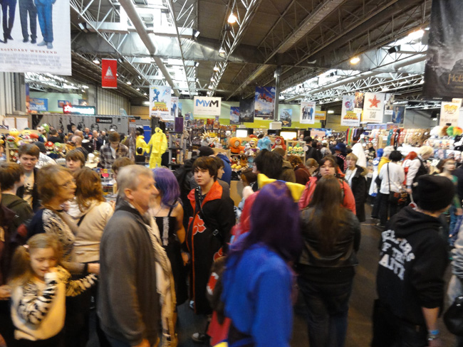 Crowds at MCM Birmingham Comic Con