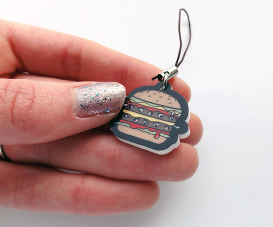 Hamburger Phone Charm