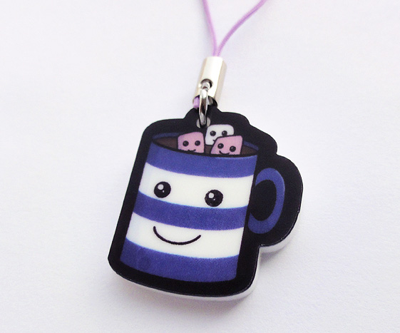 Kawaii Hot Chocolate Phone Charm