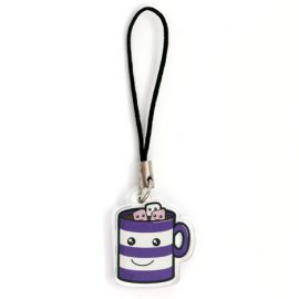 Cute hot chocolate phone charm