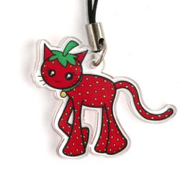 Strawberry Cat Charm
