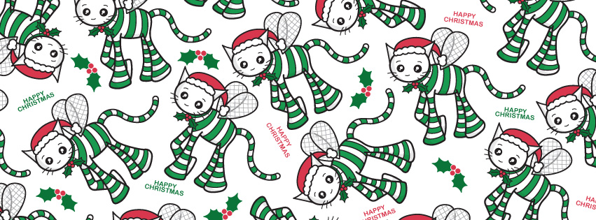 Cute Christmas cat pattern