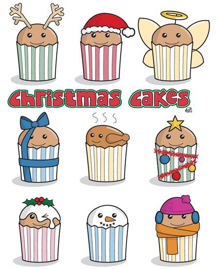 Cute Christmas Cakes