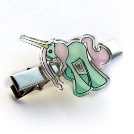 Kawaii unicorn hair clip