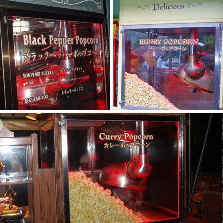 Flavoured popcorn at Tokyo Disney