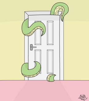 tentacle-door