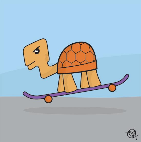 Skating Tortoise