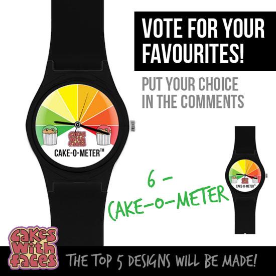 Cake-o-meter watch
