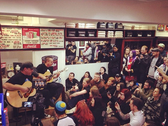 Less Than Jake private show at Johnny Cupcakes London