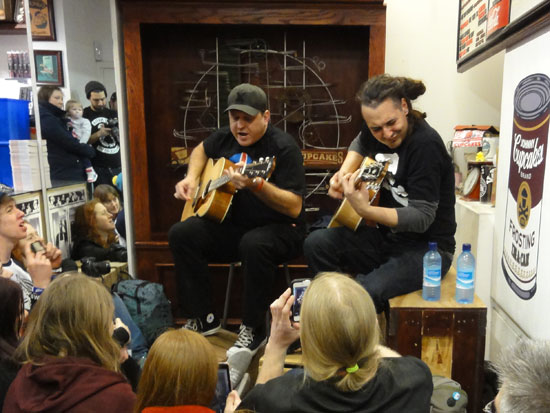 Less Than Jake private gig at Johnny Cupcakes London
