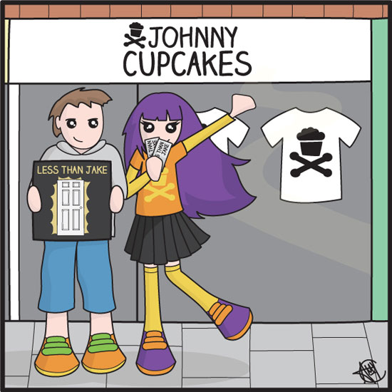 Less Than Jake / Johnny Cupcakes competition entry