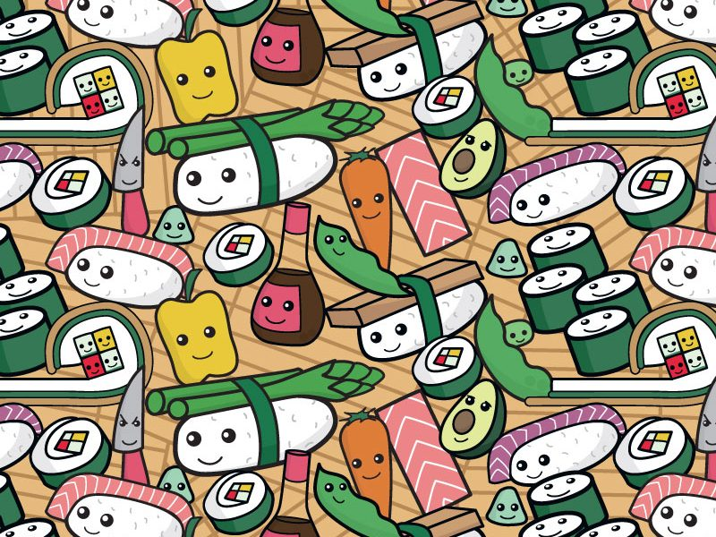 Sushi Party Pattern