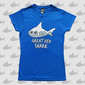 Great iced shark ladies t-shirt
