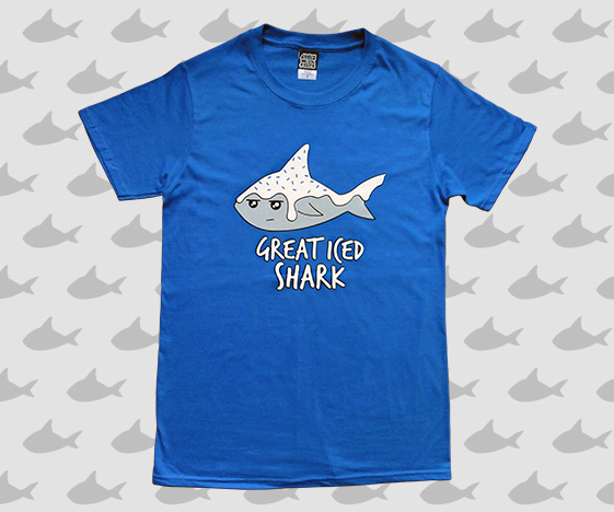 Great iced shark mens t-shirt