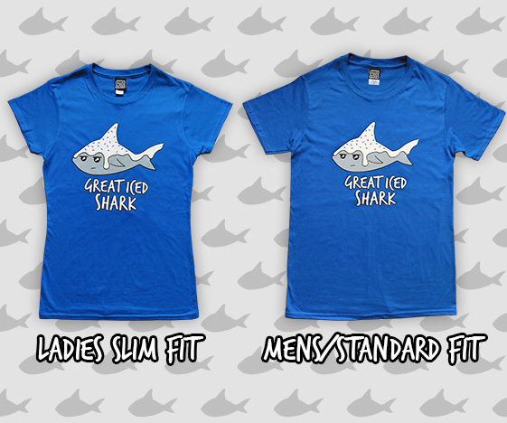 Great iced shark t-shirt - ladies and mens