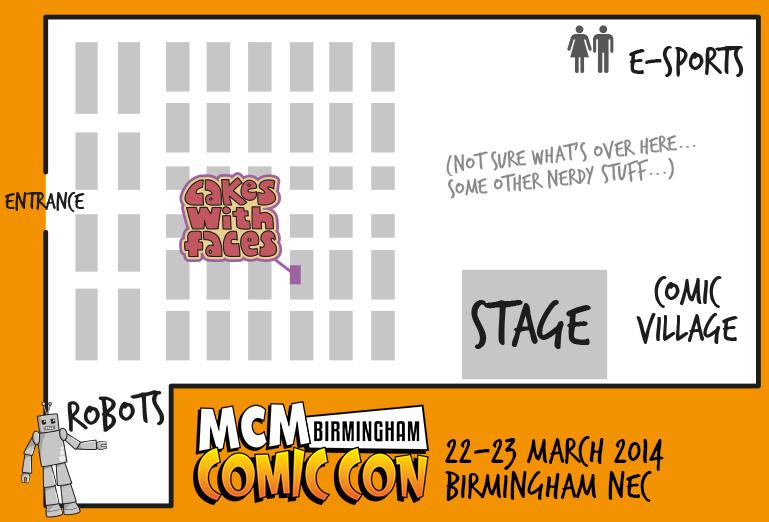 MCM Expo Birmingham Comic Con Floorplan