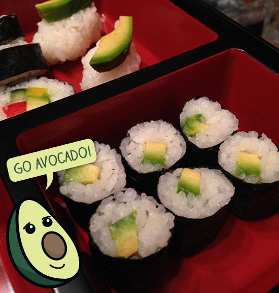 Sushi - Avocado rolls