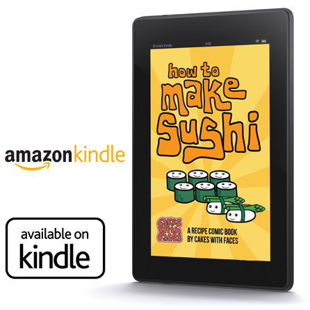 Sushi recipe book on Kindle