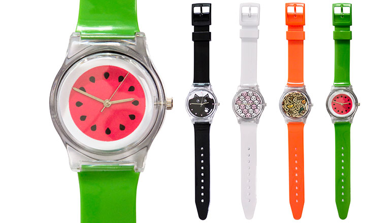 Bright and colourful watches