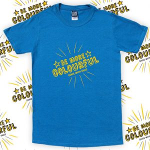 Blue be more colourful mens t-shirt