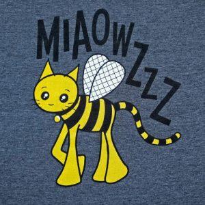 Grey bumblebee cat t-shirt