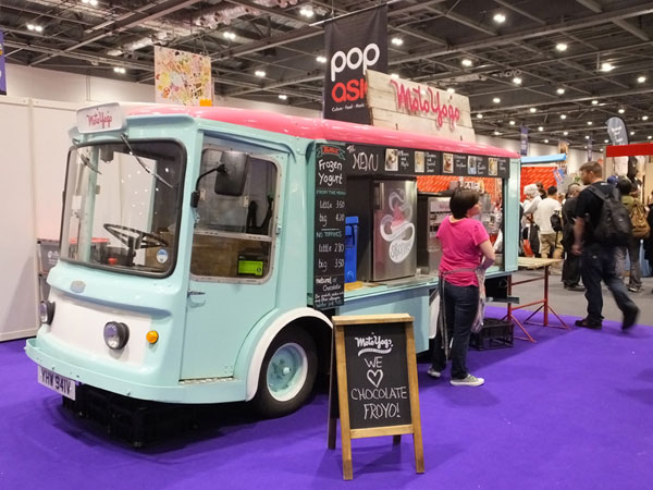 Moto Yogo frozen yoghurt at MCM London Comic Con